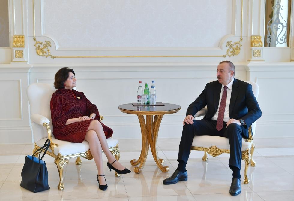 Prezident İlham Əliyev BMT Baş katibinin siyasi və sülh quruculuğu məsələləri üzrə müavinini qəbul edib